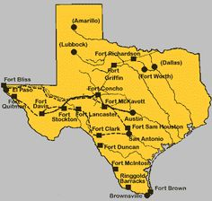 Map of Texas Military Bases