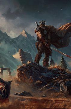 Digital Art | cyberclays:    Dovahkiin  - Elder Scrolls fan art...