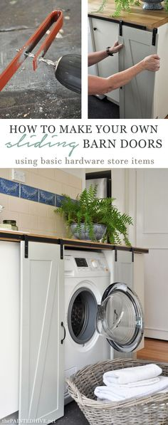 Barn doors today are becoming part of interior decoration in many houses because they are stylish. When building a barn door on your own, barn door hardware kit Home Projects, Diy Furniture, Mini Barn, Home, Remodel, Home Diy, Barn Doors Sliding, Doors, Laundry Room