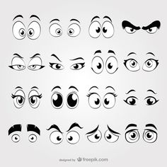 Olhos dos desenhos animados