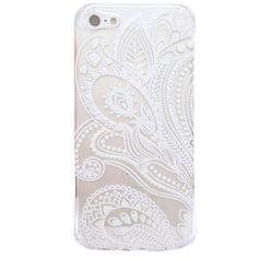 Sannysis für iPhone 5 5S;Fashion Henna Weiße Blume Blumen Kunststoff-Tasche…