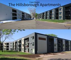 The Hillsborough Apartments were in a dire need of a face lift. Sustainable Design, Case Study, Design Elements, Apartments, Sustainability, This Is Us, Outdoor Decor, Knives, Elements Of Design