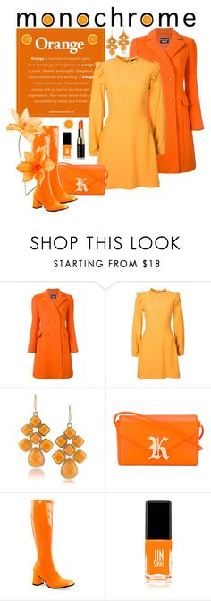 """Head to Toe: Orange"" by giovanina-001 ❤ liked on Polyvore featuring Boutique Moschino, 1st & Gorgeous by Carolee, Christopher Kane, Funtasma and JINsoon"