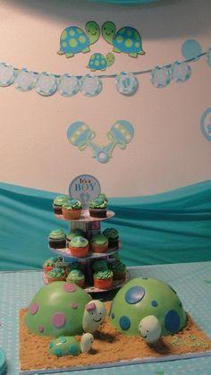 Baby Shower Turtle Mason Jar Safari Centerpiece Washcloth ... - photo#4