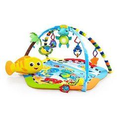 <p>Des lumières, des mélodies et des jouets amusants transforment ce tapis de jeu pour bébé en un centre dactivités tropical parfait!</p>    <p>Grâce au jouet Rhythm of the Reef Play Gym, les jeunes enfants apprécient le doux confort, les lumières qui dansent et les mélodies classiques qui le divertissent et encouragent le jeu. Le jouet électronique Baby Neptune à deux modes peut être activé par le mouvement