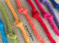 Bellos cordones o Icord de colores tejidos a crochet. Video
