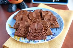 Chocolate Darth Vader Cookies--This would work with the star wars vehicle cookie cutters I got for Christmas