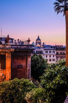 Sunset at Piazza di Spagna in Rome