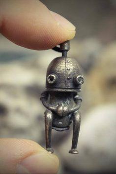 Sci Fi Jewelry Science Burning man Cyberpunk Robot charm Alien