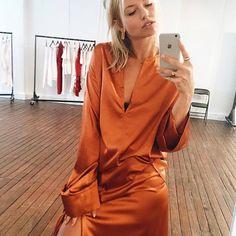 Orange Satin Pants & Top
