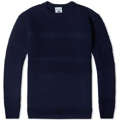 S.N.S. Herning Fisherman Crew Neck (Compact Blue Static)