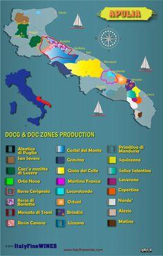 italian wine regions -Apulia #Wine #Wineeducation #Italy