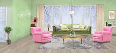 Colorful living room Colourful Living Room, My Design, Accent Chairs, Colorful, Furniture, Home Decor, Upholstered Chairs, Decoration Home, Room Decor