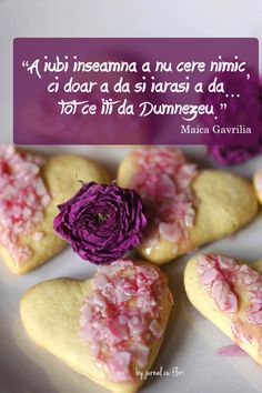 citat din Maica Gavrilia - A iubi inseamna a nu cere nimic, ci doar a da si iarasi a da... tot ce iti da Dumnezeu Flower Qoutes, Coffee Gif, Trust God, Quotes, Blessed, Awesome, Food, Photography, Biblia