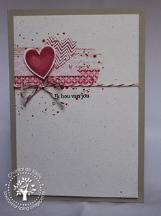 Love for Stamping: Crazy for Cas: Challenge # 31 Sketch Valentine Love Cards, Valentine Ideas, Karten Diy, Heart Cards, Paper Cards, Creative Cards, Cool Cards, Greeting Cards Handmade, Anniversary Cards