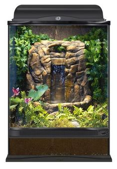 This waterfall adds a natural look … Repti Rapids® LED Waterfall – Large Rock. This waterfall adds a natural look and helps increase humidity in tropical Crested Gecko Habitat, Lizard Habitat, Reptile Habitat, Reptile Room, Lizard Terrarium, Terrarium Plants, Large Terrarium, Lizard Tank, Snake Cages