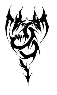 100 Best Tribal Tattoo Designs For Men And Women. 100 Best Tribal Tattoo Designs For Men And Women. Tribal Dragon Tattoos, Celtic Dragon Tattoos, Cool Tribal Tattoos, Star Tattoos, Body Art Tattoos, Wolf Tattoos, Forearm Tattoos, Tribal Animal Tattoos, Life Tattoos