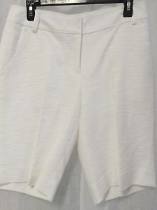 ETCETERA White Textured Dress Shorts Size 8   eBay