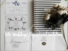 DIY: Wedding and engagement invitations