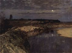Isaak Ilitsch Lewitan 003 - Isaac Levitan - Wikipedia, the free encyclopedia Russian Painting, Russian Art, Figure Painting, Painting & Drawing, Russian Landscape, Landscape Art, Landscape Paintings, Oil Paintings, Nocturne
