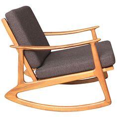 Mid Century Danish Modern La Z Boy Rocker Recliner Rocking Chair ...