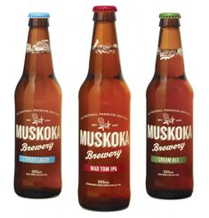 Cool packaging by Muskoka Brewery (Canadia) Vintage Packaging, Beer Packaging, Beverage Packaging, Packaging Design, Transparent Labels, Brewery Design, Beer Label Design, Beers Of The World, All Beer