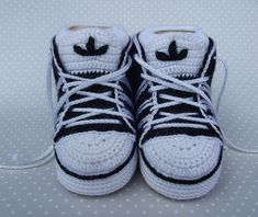 Crochet Adidas Baby Sneakers - Tutorial