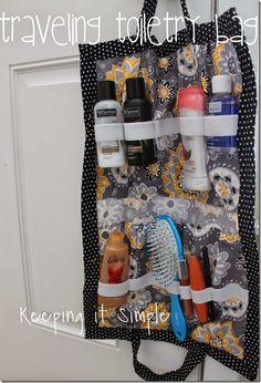 Traveling Toiletry Bag #sewing #tutorial  #keepingitsimplecrafts