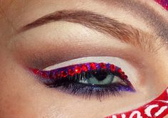 Year of the Snake.Chinese New Years inspired look Music Festival Makeup, Year Of The Snake, Dramatic Look, Makeup Designs, Fantasy Makeup, Makeup Inspiration, Makeup Ideas, Creative Makeup, Makeup Geek