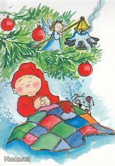 Virpi Pekkala...Sweet dreams Christmas Canvas, Christmas Art, Beautiful Christmas, Stick Figure Drawing, Christmas Clipart, Winter Art, Christmas Illustration, Scandinavian Christmas, Pattern Illustration