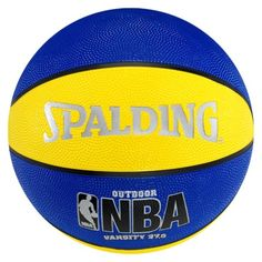 "Spalding NBA Varsity Basketball - Blue/Yellow (27.5"")"