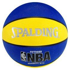 "Spalding NBA Varsity Basketball - Blue/Yellow (27.5"")"