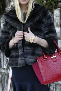 Look cozy and chic, even if the party heads outdoors. *Tommy Hilfiger NYE challenge*