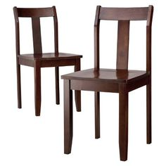 Threshold™ Dining Chairs - Set of 2 - Dark Tobacco - $114.39 at Target
