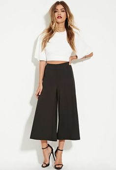 The Fifth Label Wide-Leg Culottes | Forever 21 - 2000163775