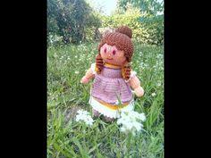 МК куколка Анабель спицами (часть І) - YouTube