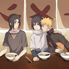 Ichirakus, ramen, Itachi, Sasuke, Naruto, funny, yaoi, SasuNaru; Naruto