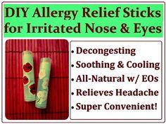 How to Make All-Natural DIY Allergy Relief Sticks (recipe)