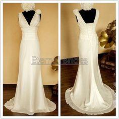 simple wedding dress on etsy