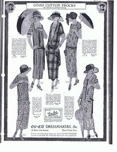 "Vogue, May 1923 Advertisement ""Co-ed Frocks"""