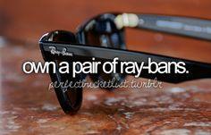 rayban, ray bans, bucketlist, check, the real, pair, sunglass, die, bucket lists