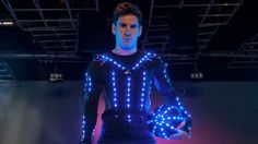 Here's Lionel Messi Playing Soccer Dressed as a Light Monster, for Some Reason