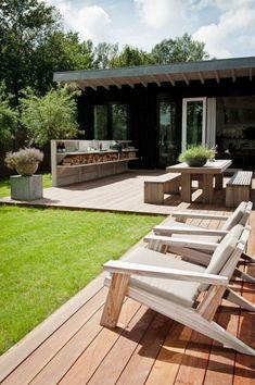 Small garden design for small backyard ideas 00043 Backyard Bar, Backyard Retreat, Backyard Landscaping, Backyard Ideas, Patio Ideas, Backyard Hammock, Porch Ideas, Landscaping Ideas, Outdoor Kitchen Design
