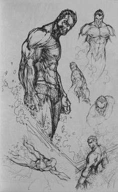 Namor sketches by Michael Turner