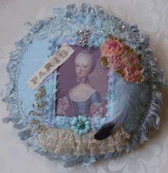MARIE ANTOINETTE FRENCH INSPIRED BLUE BOUDOIR by JenniesHeirlooms
