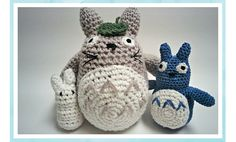 Free Crochet Pattern: Totoro & Friends | The Blue Elephants