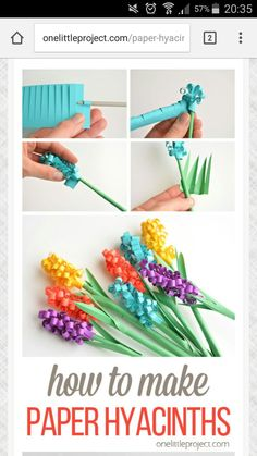 manualidades Spring Crafts For Kids, Fall Crafts, Easy Diy Crafts, Easter Crafts, Diy For Kids, Arts And Crafts, Paper Flowers For Kids, Mothers Day Crafts, Camping Crafts