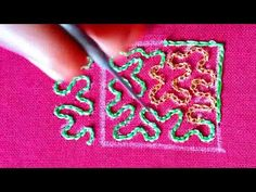 Hand Embroidery Work Designs, Types Of Embroidery Stitches, Hand Embroidery Videos, Embroidery Stitches Tutorial, Embroidery For Beginners, Cutwork Blouse Designs, Maggam Work Designs, Hand Work Blouse Design, Paper Flower Tutorial