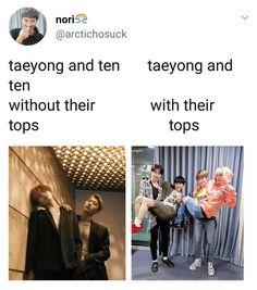 NCT memes for good life✌ Funny Kpop Memes, Exo Memes, Nct Taeyong, Chanbaek, Nct 127, K Pop, Party Banner, Trauma, Xiuchen