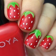 Strawberry nails - Instagram photo by @la_manisera (LaManisera [Steph])   Iconosquare